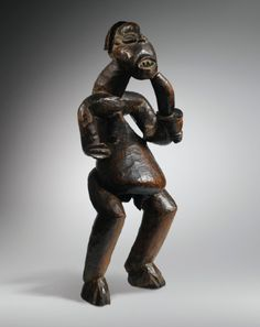 Statue, Bamileke, Cameroun BAMILEKE FIGURE, CAMEROON haut. 74 cm