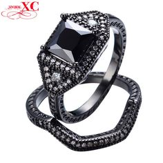 Dudee Jewelry Wedding Finger Ring L Black White Crystal Black Gold Filled CZ Ring Anel Anies RB0126. High Quality Product. High Polished / Fine Workmanship. Never Fade / Scratchproof and Anti - Allergy. Pack with Beautiful Bag as a Gift. Size info is estimate, if concern, Please leave me message.