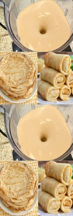 Breakfast Recipes, Dessert Recipes, Desserts, Crepes And Waffles, Deli Food, Crepe Recipes, Tasty, Yummy Food, Pastry And Bakery