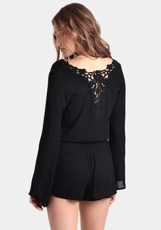 Moment Of Truth Lace Romper at threadsence