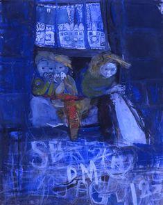 thorsteinulf:  Joan Eardley - Three children at a tenement window (1961)