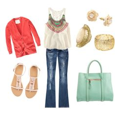 Summer Casual, created by saisirlejour1 on Polyvore