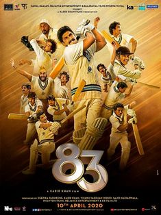 83 Film Poster Released Starring Ranveer Singh And Deepika padukone Movie Songs, Hindi Movies, Film Movie, It Movie Cast, It Cast, Full Cast, Ammy Virk, Poppy And Branch, Free Tv Shows
