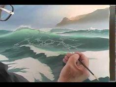 Байрон Пикеринг - Учимся рисовать бушующее море 2 часть (с переводом на русский) - YouTube