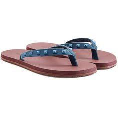 3217ea2283b9b Valentino Rubber Rockstud Flip Flops ( 350) ❤ liked on Polyvore featuring  men s fashion
