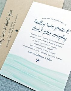 Beautiful ocean inspired invitation suite