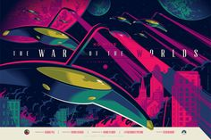 Tom Whalen's Posters for 'Teenage Mutant Ninja Turtles,' 'War of the Worlds' and 'The Iron Giant'