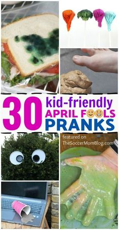 This is the best list of good-spirited April fools pranks for kids and families! Your kids will love to pull these fun pranks and you won't mind them doing it. This spring, try one of these silly April fool pranks on your kids! Pranks To Pull, Easy Pranks, Good Pranks, Pranks Hilarious, Harmless Pranks, Funny Puns, Funny Stuff, Kids April Fools Pranks, Pranks For Kids