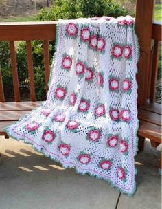 Picture of Rose Radiance Afghan Crochet Pattern