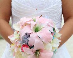 A stunning blush bouquet
