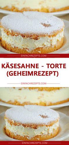 All Time Easy Cake : Cheese cream - cake (secret recipe), No Bake Chocolate Desserts, Chocolate Pies, No Bake Desserts, Cream Recipes, Pie Recipes, Torte Au Chocolat, German Baking, Torte Recipe, Secret Recipe