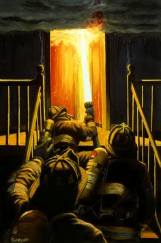 Devil's Stairway, by Paul Walsh. Here's to the brave firefighters everywhere.