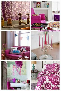 Art Symphony Pantone 2017 Color Of The Year Radiant Orchid Colorful Interior Designhome Decor