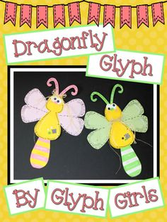 It's a Dragonfly Glyph for Spring! Graphing and Writing included, too!