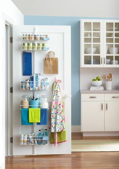 Kitchen Pantry Storage Ideas Beautiful Store More with these Behind the Door Storage Ideas Behind Door Storage, Pantry Door Storage, Pantry Door Organizer, Kitchen Organization, Kitchen Storage, Storage Spaces, Storage Ideas, Storage Solutions, Organizing Solutions