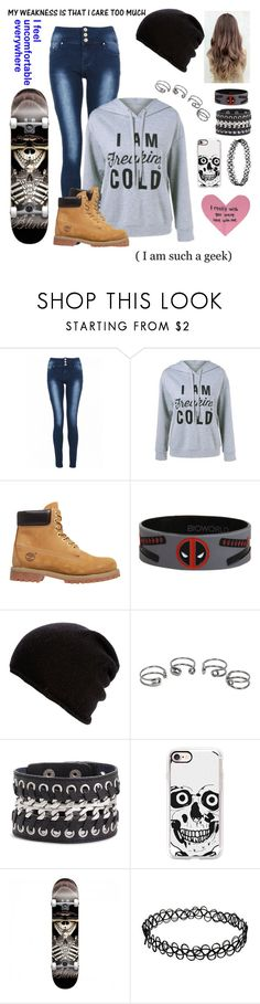 """My weakness is that I care too much"" by skatergurl58 ❤ liked on Polyvore featuring Quiz, Timberland, Marvel, Belmondo, Maison Margiela, Cara Accessories and Casetify"