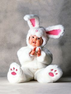 Baby Halloween Rabbit Costume. So cute i wouldn't let him go all night!