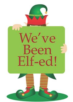 You've / We've Been Elfed -- fun Christmas tradition sharing treats with neighbors; click for printables and how to