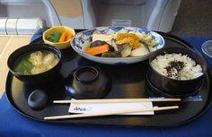 First Class meals -- ANA