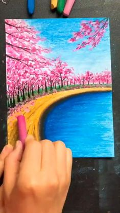 Crayon Painting, Canvas Painting Tutorials, Diy Canvas Art, Crayon Canvas, Small Canvas Art, Diy Wall Art, Fabric Painting, Oil Pastel Drawings Easy, Oil Pastel Paintings