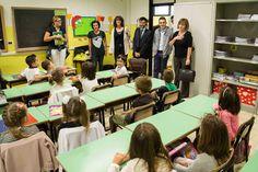 Apertura dell'anno scolastico, la giunta alla Einaudi – Toscanini di via Cuneo. Scuola senza eternit