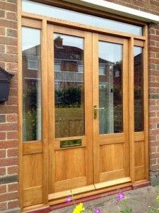 European oak double glazed french doors with matching frame and side panels & French Panel Interior u0026 Exterior Wood Doors - Maiman - Stile u0026 Rail ...