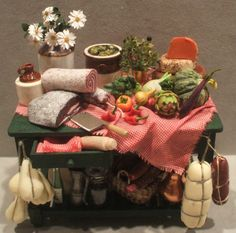 "Italian Display on Green Table by Paula Gilhooley $250.00 This was hand made in the U.S.,4 1/4""long"