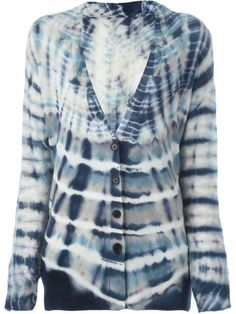 RAQUEL ALLEGRA SHRED BACK TIE-DYE CARDIGAN. #raquelallegra #cloth #碎布条扎染开衫