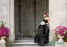 Black Elegant Wedding Dress Bridal Gown by WeddingDressFantasy.com