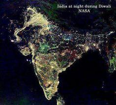 L'india illuminata durante il #Diwali