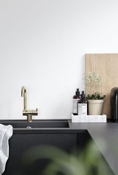 modern sink and counter