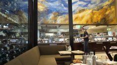 Breakfast at the Glass Brasserie at the Hilton Sydney Hotel Sydney, Hotels, Australia, Breakfast, Glass, Modern, Morning Coffee, Trendy Tree, Drinkware