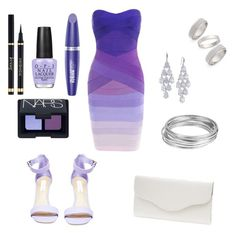 """""""Purple paradise"""" by clarabellasweet ❤ liked on Polyvore featuring Steve Madden, Carolee, Topshop, OPI, Worthington, Max Factor, NARS Cosmetics, Yves Saint Laurent and Touch Ups"""