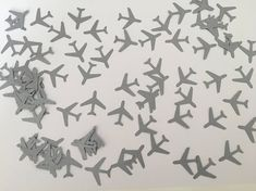 150 Plane Confetti Table Confetti Party Retirement Holiday Themed Baby Planes
