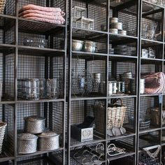 Industrial Iron Shelving @ www.designvintage.co.uk