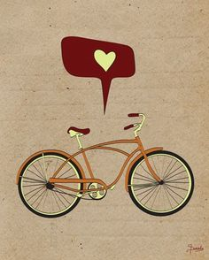 I Love to Ride - Posters that Stick (adhesive wall art stickers) at Wheatpaste Art Collective