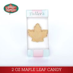 0.75 oz. Maple Leaf – Pure Maple Syrup Candy