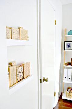 DIY Storage Ledges for Narrow Spaces