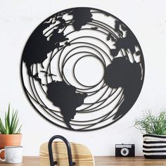 Decovana: Home Decoration Ideas & Metal Wall Art Design Products Outdoor Metal Wall Art, Metal Wall Art Decor, Metal Artwork, Wall Painting Decor, Laser Art, Acrylic Wall Art, Style Vintage, Mural Art, Wall Art Designs