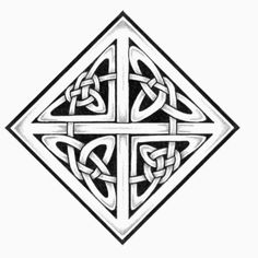 Simple Celtic Knot Vector A square celtic knots design Celtic Fonts, Irish Symbols, Celtic Symbols, Celtic Tribal, Celtic Art, Skull Tattoos, Animal Tattoos, Wing Tattoos, Sleeve Tattoos