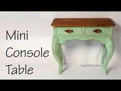 Miniature Console Table Tutorial - Dolls/Dollhouse - YouTube