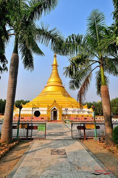 Myanmar Temple at Lumbini, Burma