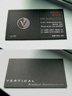 Black Business Card Designs Inspiration   #Business #Card #letterpress #creative #paper #businesscard #corporate #design #visitenkarte #corporatedesign < repinned by an #advertising agency from #Hamburg / #Germany - www.BlickeDeeler.de   Follow us on www.facebook.com/Blickedeeler