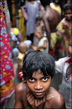 Crowded slums in Calcutta. *To find out how to sponsor a disadvantaged child's education in India, please go to: www.healcharity.org