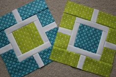 This quilt only uses three different fabrics and the shown blocks.  The tute is HERE:  http://hyacinthquiltdesigns.blogspot.com/2011/01/garden-fence.html