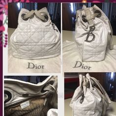 Authentic Dior purse Perfect for summer  Beautiful authentic Dior white leather straps purse is patient leather I will clean before  this item shipped item is pre owned has some minor wear no holes rips or tears very clean inside also have matching wallet sold separately   if more photos are needed I will post another listing jlmk Dior Bags Shoulder Bags