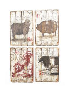 Farmhouse Kitchen Wall Decor Ideas kitchen signs, farm house signs, pig, cow, rooster, kitchen decor