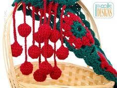 Ravelry: Jingle Bells Christmas Festive Holiday Scarf Free Crochet Pattern PDF pattern by Ira Rott