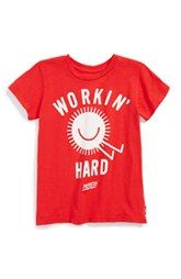 Prefresh 'Workin' Hard' Graphic Cotton T-Shirt (Toddler Boys & Little Boys)