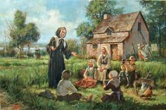 Today (January is the Feast Day of St. Marguerite Bourgeoys---Canada's first female Saint. Champagne France, Saint Joachim, Montreal Ville, Canadian History, Colonial America, New Age, Illustration, Catholic, Concept Art